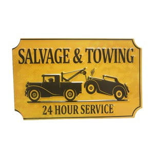 Cedule na stěnu Salvage&Towing