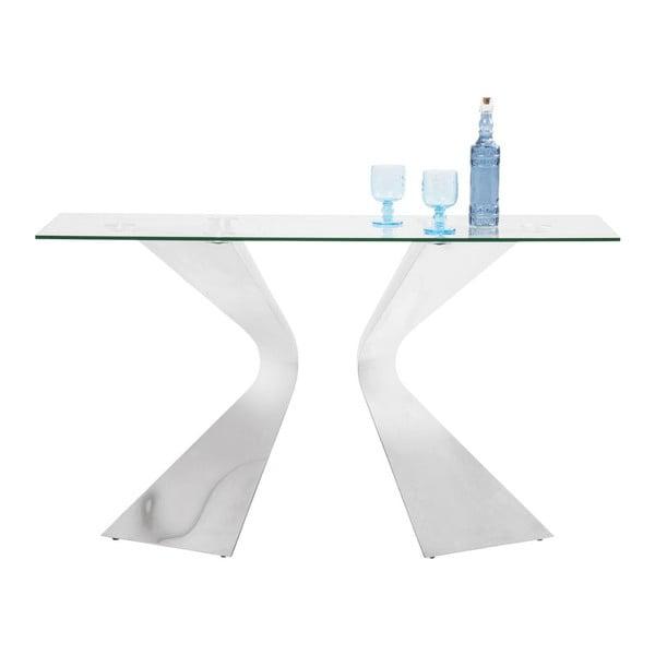Konzolový stolek s nohami v barvě chromu Kare Design Gloria