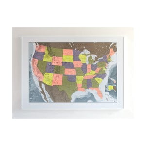 Magnetická mapa USA The Future Mapping Company USA Map, 100x70cm