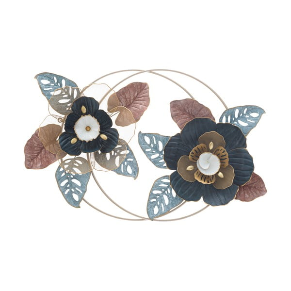 Kovová závěsná dekorace MauroFerretti Flower Dop, 93x61,5cm