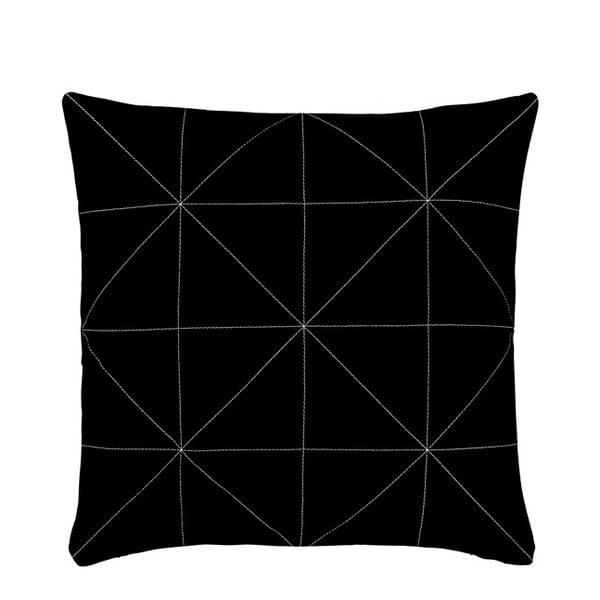 Polštář s náplní Triangle Black, 45x45 cm