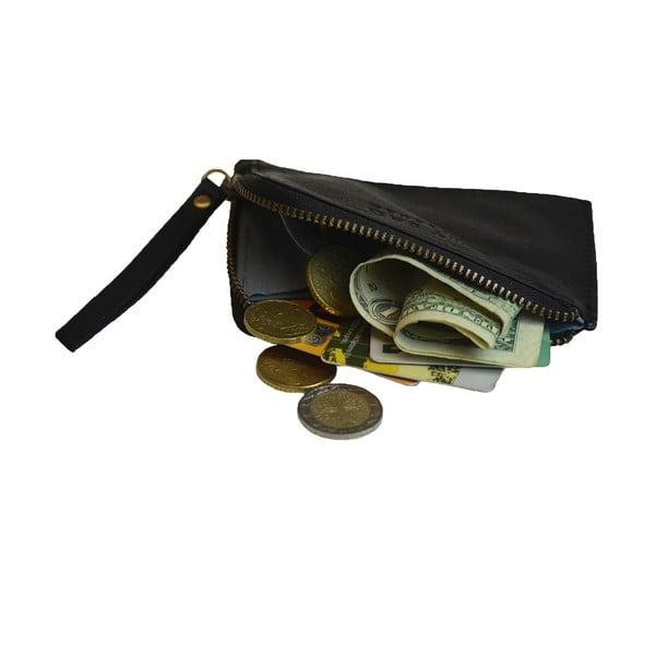 Kožená peněženka na drobné Coin, černá