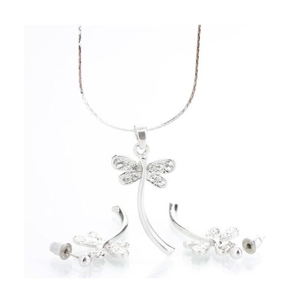 Set náhrdelníku a náušnic s krystaly Swarovski Elements Laura Bruni Dragonfly