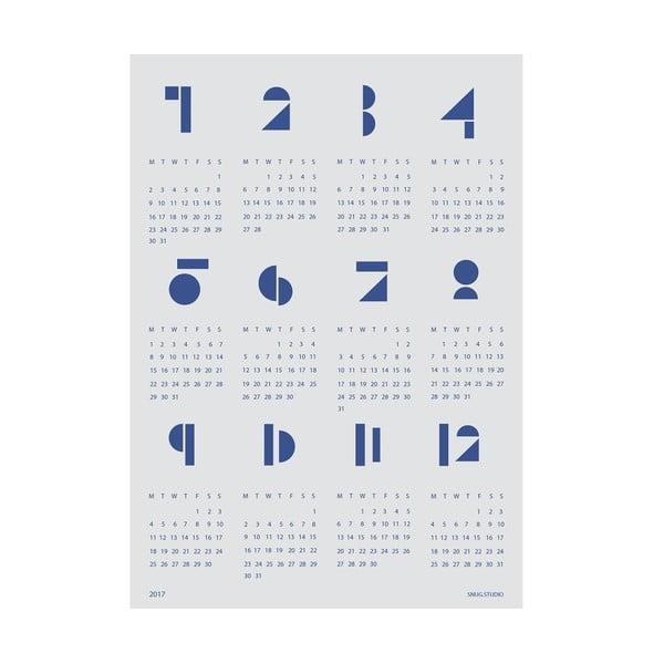 Nástěnný kalendář SNUG.Toy Blocks 2017, modrý