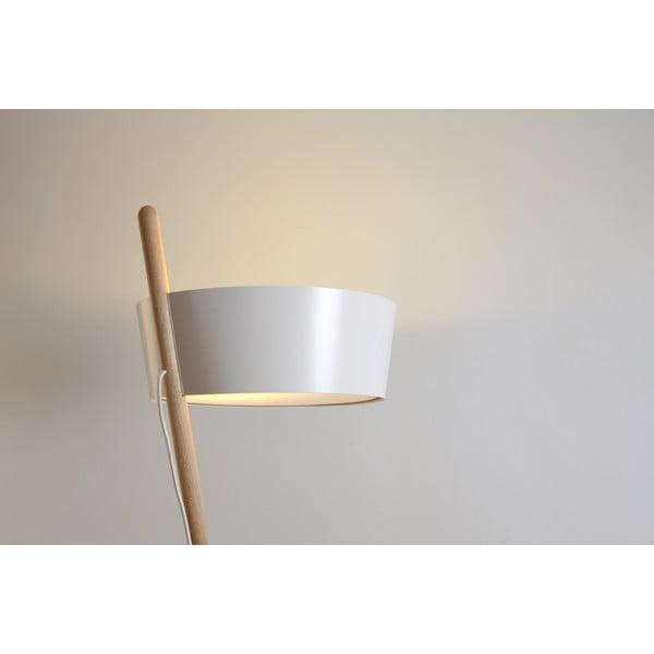 Bílá volně stojící lampa s odkládacím prostorem Woodendot Ka L