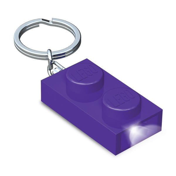 Fialový LED přívěsek na klíče LEGO®