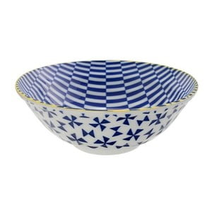 Porcelánová miska Geo Noodle Blue, 21x7,8 cm