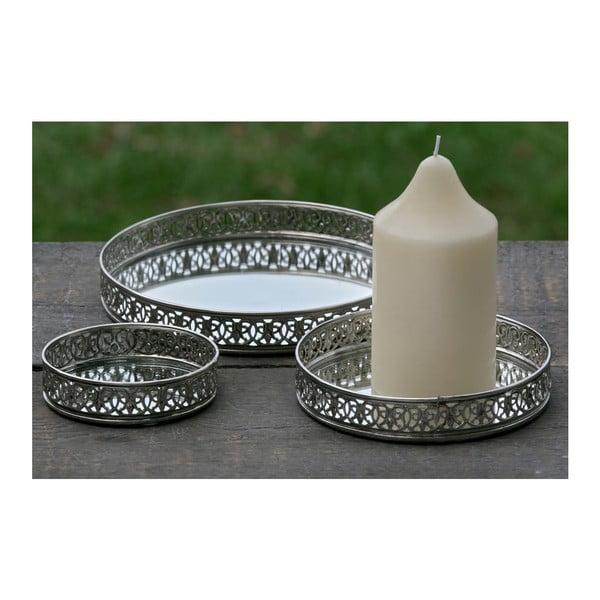 Sada 3 podnosů na svíčky Candle Plate