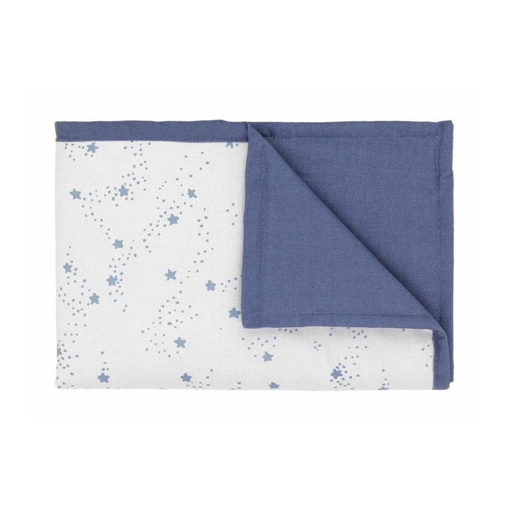 Modro-bílá dětská deka s modrými hvězdičkami Art For Kids Stars, 70 x 100 cm