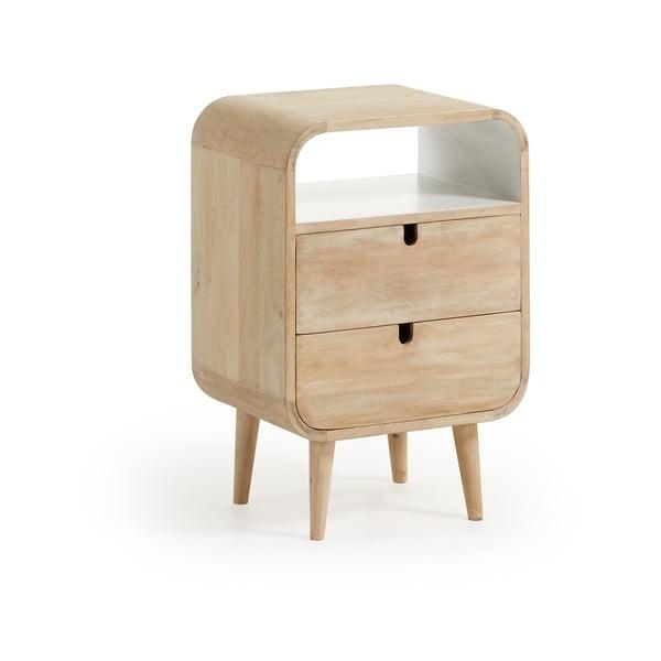 Stolik nocny z drewna mango z 2 szufladami La Forma Gerald, 40x30cm