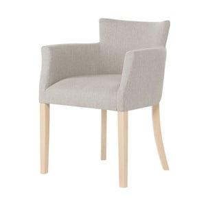 Krémová židle s hnědými nohami Ted Lapidus Maison Santal