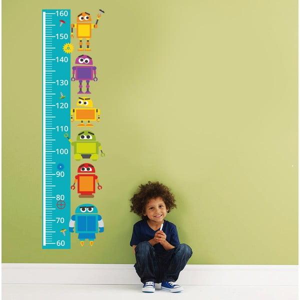 Samolepkový metr na zeď Robotí metr, 160 cm