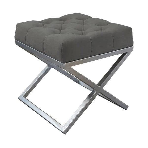 Tmavě šedá lavice JohnsonStyle Awilla, 45 x 45 cm