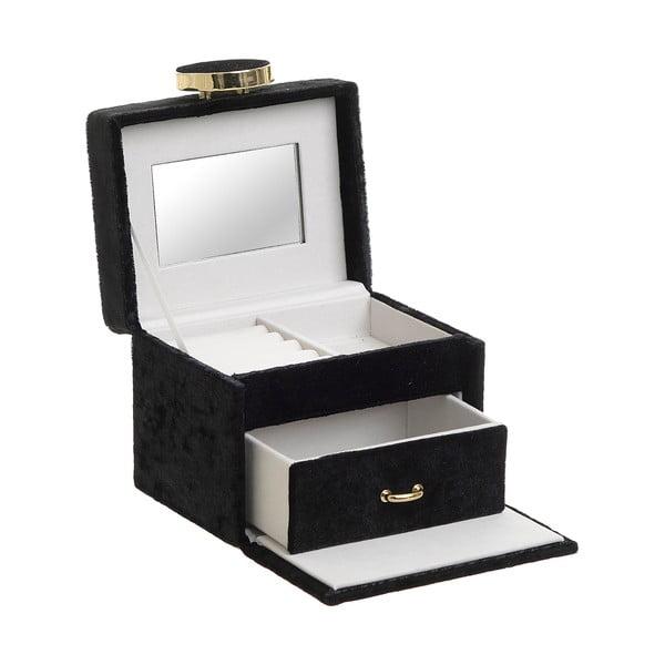 Dekorativní černá šperkovnice InArt Velvet