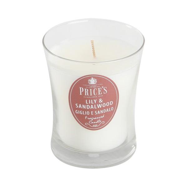 Vonná svíčka Prices Lilie a santálové dřevo, 45 hodin hoření