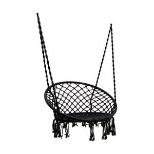 Scaun suspendat pentru grădină InArt Flowers, 96 x 50 cm, negru