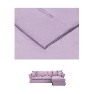 Světle fialový povlak na trojmístnou pohovku THE CLASSIC LIVING Helene, pravýroh