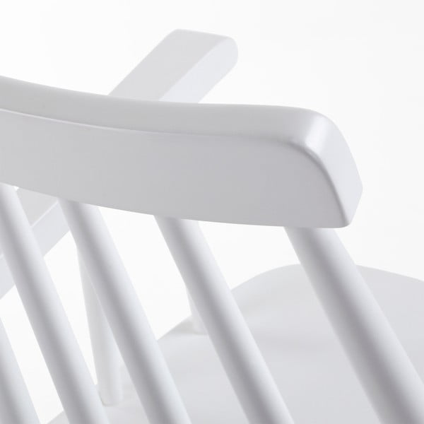 Scaun din lemn de arbore de cauciuc La Forma Kristie, alb