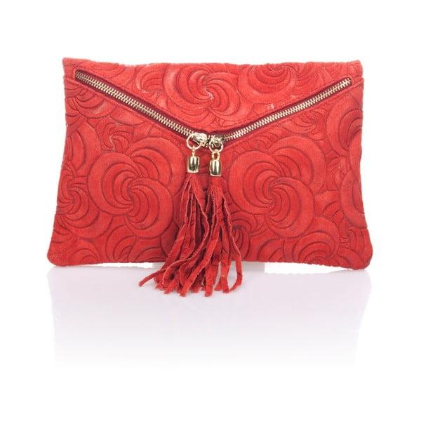 Červené kožené psaníčko Lisa Minardi Silvia
