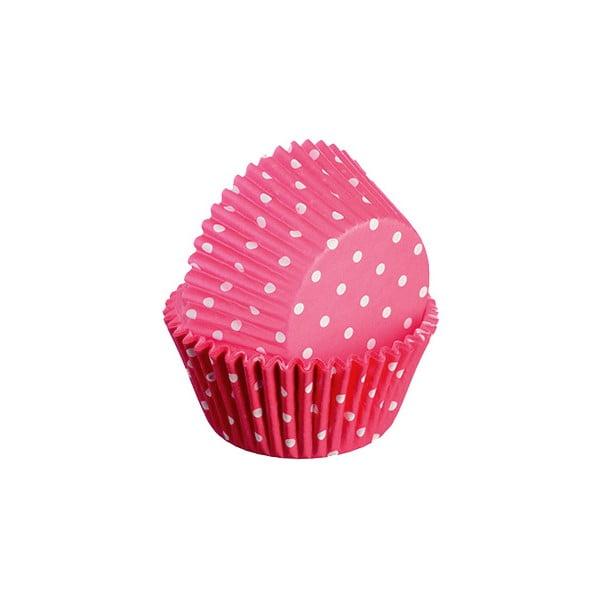 Sada 75 formiček na cupcakes Polka, červená