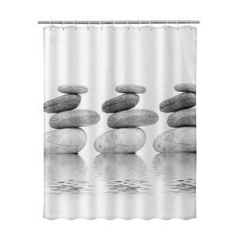 Perdea de duș Unimasa Stones, 180 x 200 cm, bej de la Unimasa