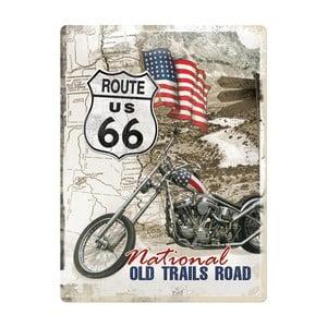 Plechová cedule Route US 66, 30x40 cm