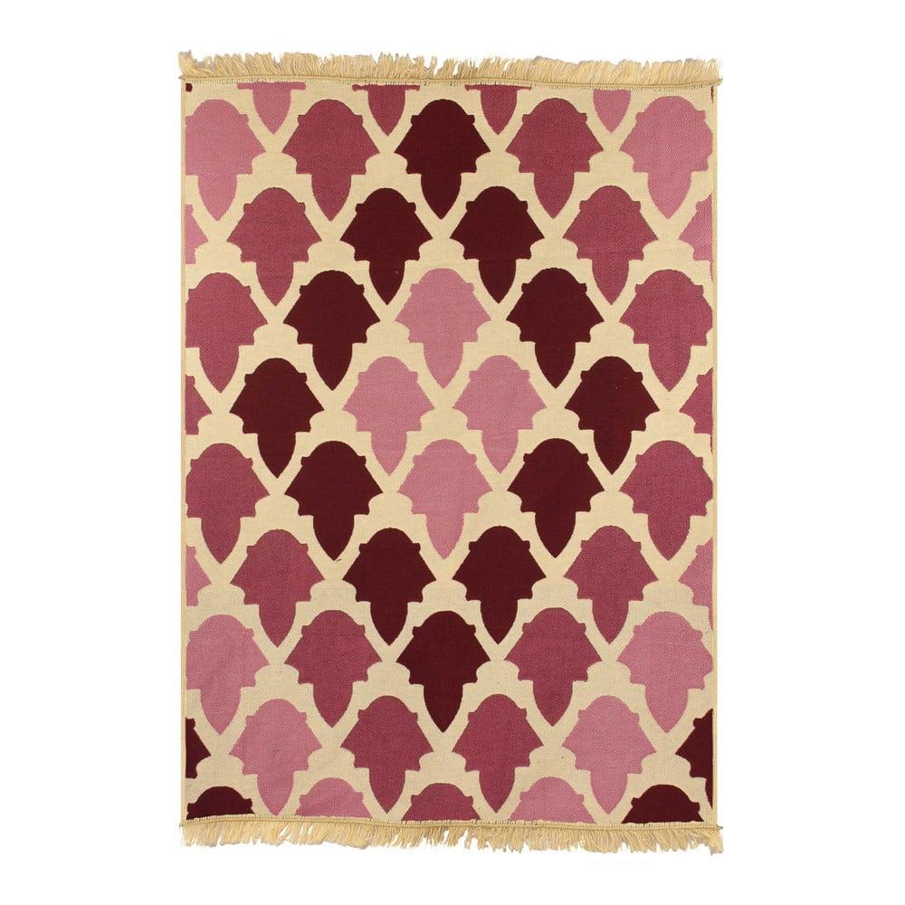 Červený koberec Ya Rugs Baklava Claret, 80x150cm