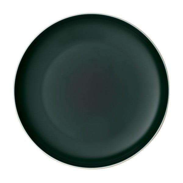 Bílo-zelený porcelánový talíř Villeroy & Boch Uni, ⌀ 24 cm