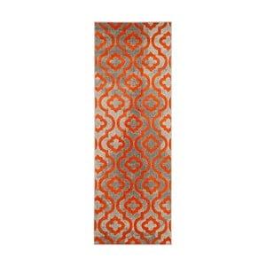 Oranžový běhoun Webtappeti Evergreen,70x275cm