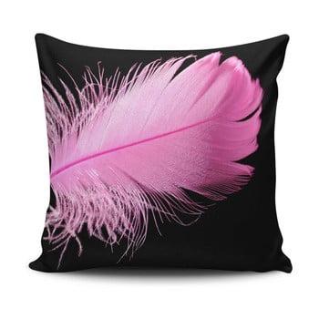 Pernă pentru scaun Gravel Pink Feather, 42x42cm,cuumplutură
