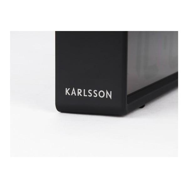 Černý stolní budík Karlsson Coy