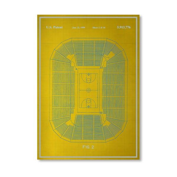 Plakát Basketball Court, 30x42 cm