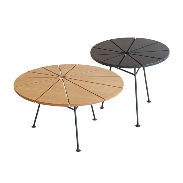 Odkládací stolek Bam Bam, černý, průměr 50 cm