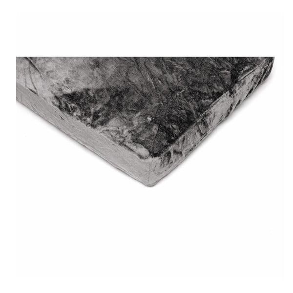 Sivá mikroplyšová prikrývka na jednolôžko My House, 90 × 200 cm