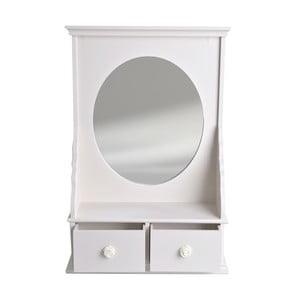 Bílé zrcadlo se šuplíky Ewax Dressing, 34 x 50 cm