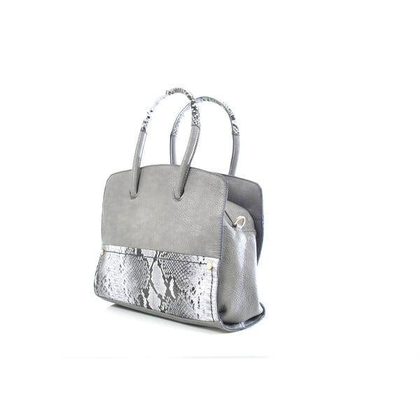Kožená kabelka Chiara, šedá