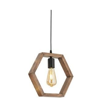 Lustră din lemn de carpen Geometrik Sparky de la Beacon