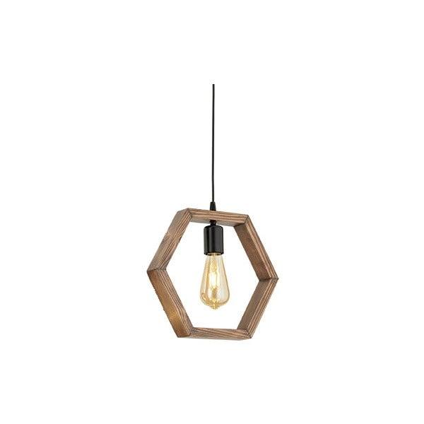Lampa wisząca z drewna grabu Geometrik Sparky