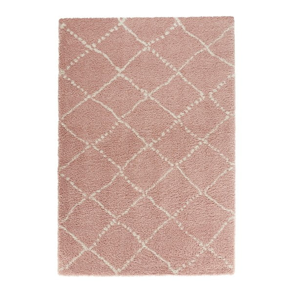 Covor Mint Rugs Allure Ronno Rose Creme, 80 x 150 cm, roz