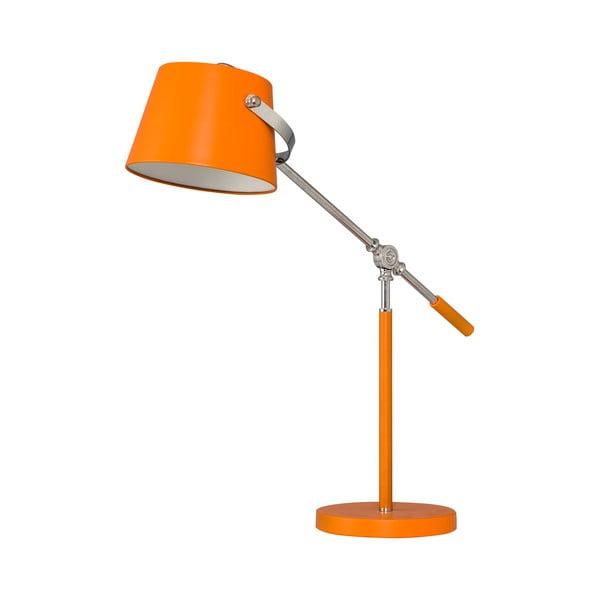Stolní lampa Xavier, oranžová