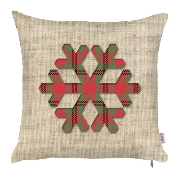 Vánoční povlak na polštář Apolena Honey Snowy, 43x43cm