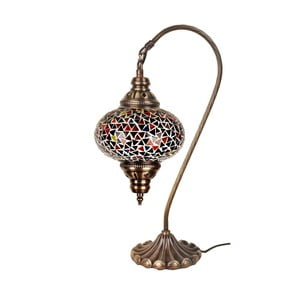Skleněná lampa Homemania Oriental, ⌀17cm