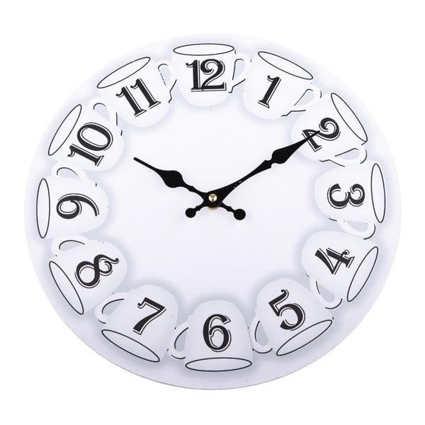Wiszący zegar drewniany Dakls Mugs, ⌀ 34 cm