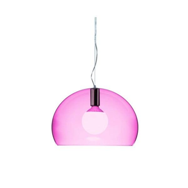 Menší fialové stropní svítidlo Kartell Fly