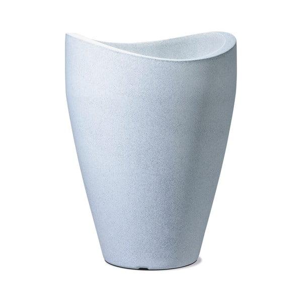 Venkovní květináč Granit 40x30 cm, bílý