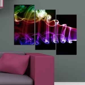 3dílný obraz Světelné vlny