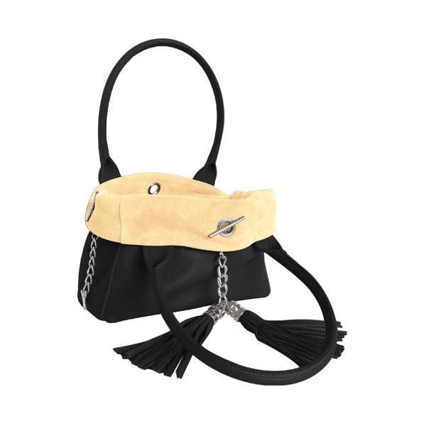Oboustranná kožená kabelka Dolce Sonia Nero/Burro