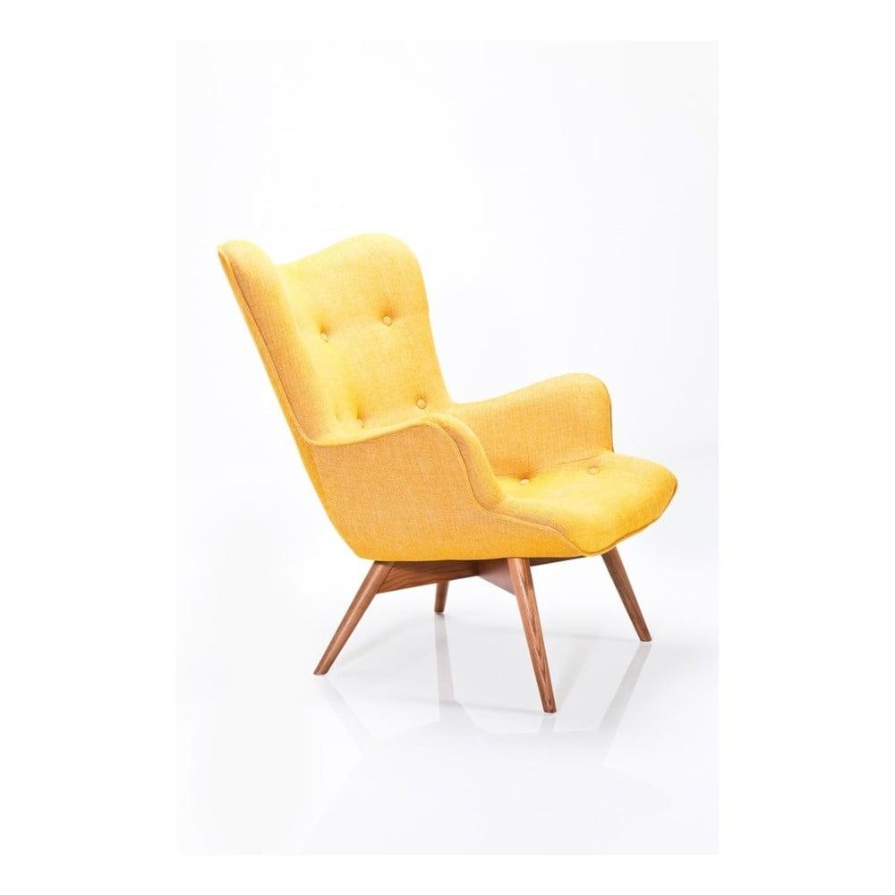 Hořčicově žluté křeslo Kare Design Rhytm