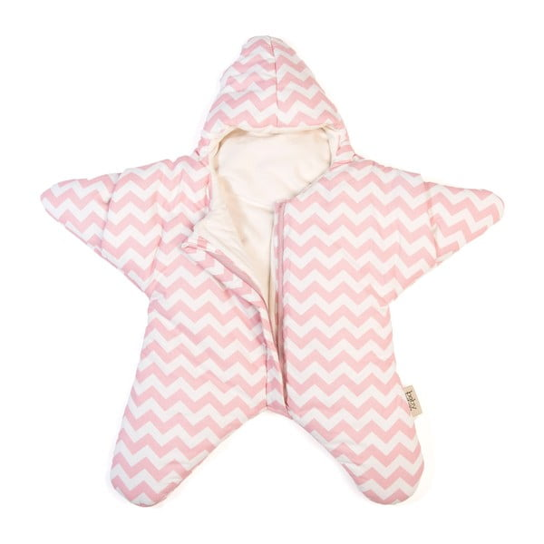 Dětský spací vak Pink Star, vhodný i na léto, pro děti od 4 do 7 měsíců