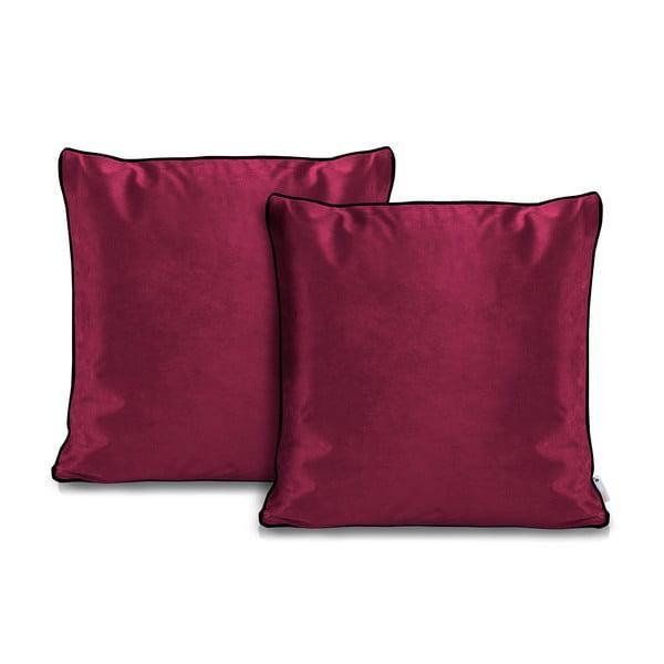 Zestaw 2 rózowych poszewek na poduszkę DecoKing Rimavelvet Pink, 45x45 cm